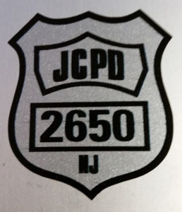 BBO produces & donates Santiago Memorial Stickers to the JCPD hockey team