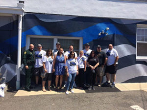 HQ Makeover & Blue line mural – Bogota NJ PD