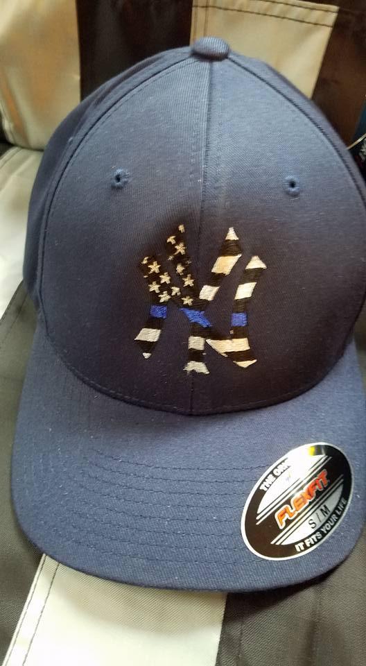 NY Blue Line Flag Hat