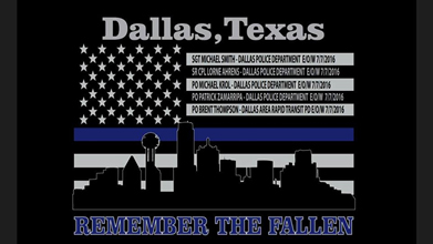 Memorial shirt drive for DallasTexas