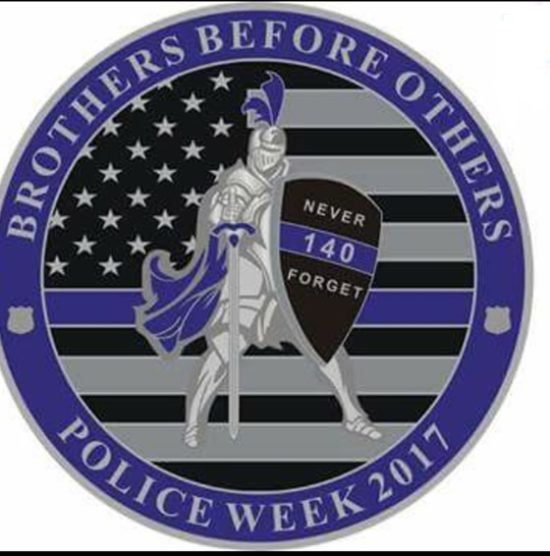 police week coin front