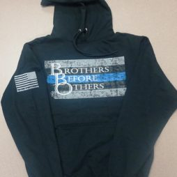 thin blue line large logo hoody