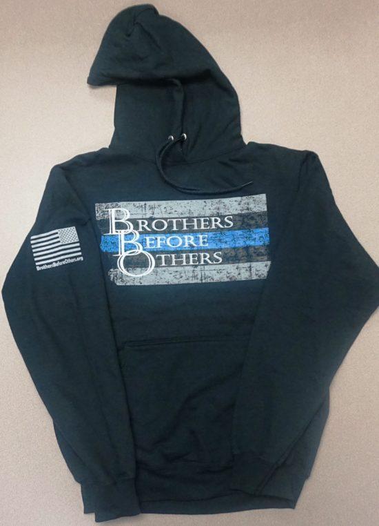 thin blue line large logo hoody