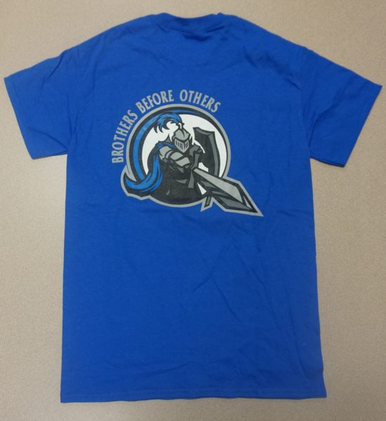 blue logo back