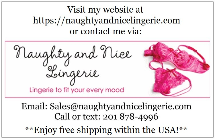 naughty and nice lingerie contact card